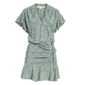 Veronica Beard Marla Tie Ruched Silk Dress Size 6